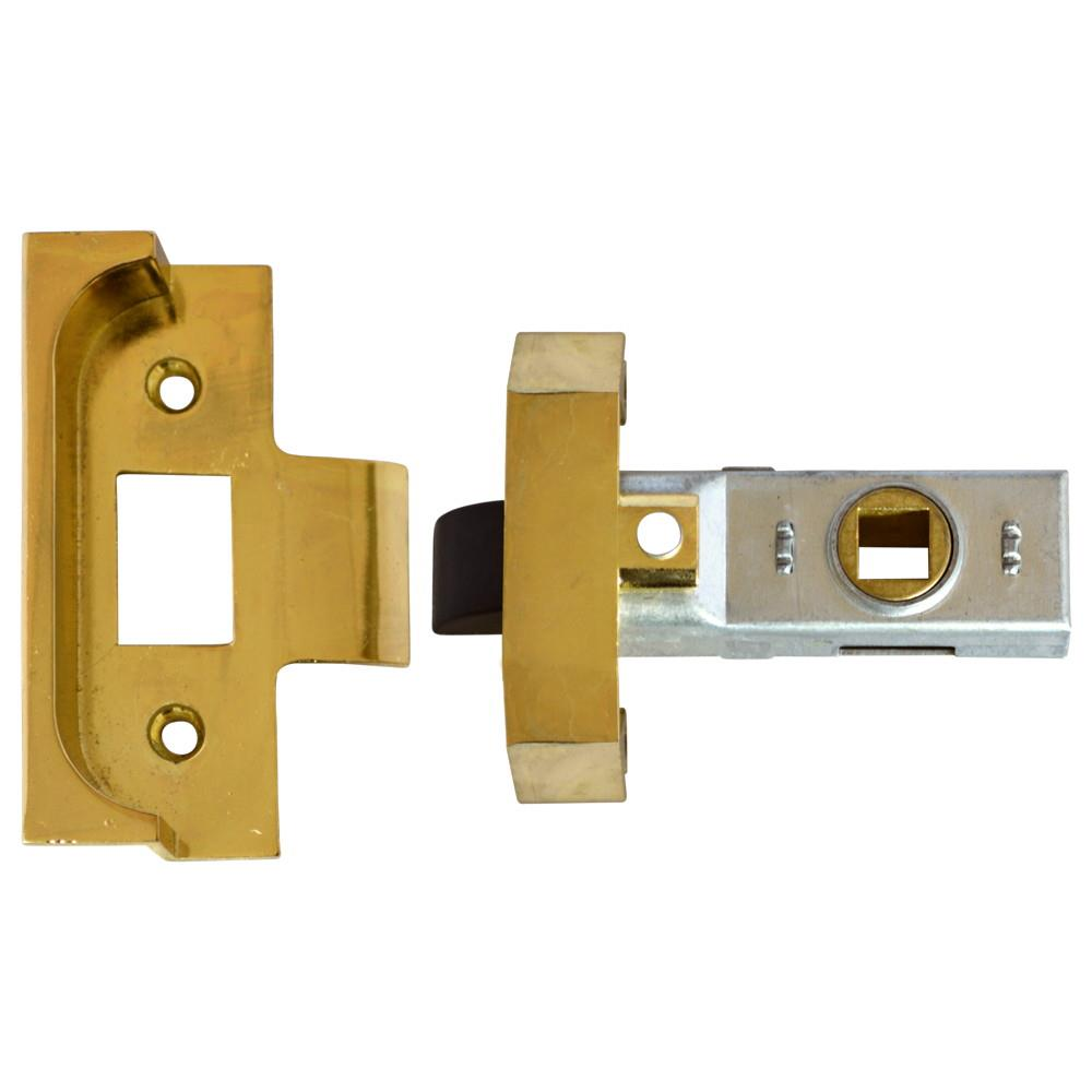 "Union 2650 Rebated Tubular Mortice Latch; Electro Brassed (EB); 64mm (2 1/2"")"