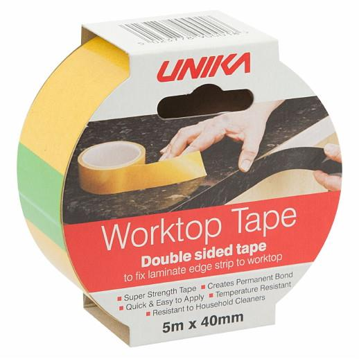 Unika Worktop Tape; Double Sided Tape; 40mm x 5 Metre