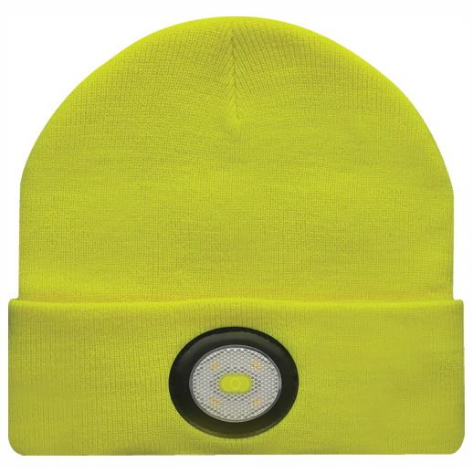 Unilite BE-02+Y Beanie Hat With Integrated LED Head Torch; USB Rechargeable; 150 Lumen; Yellow (YEL)