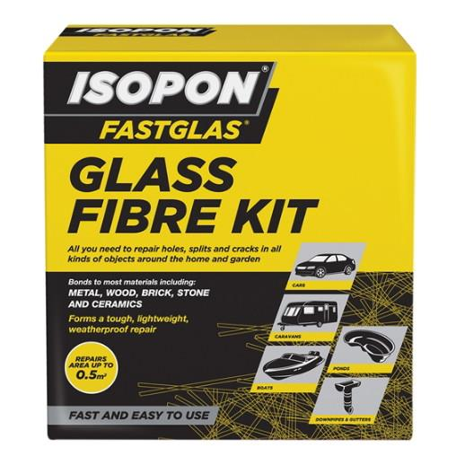 U-POL Isopon Fastglas Resin & Glass Fibre Kit; Fibreglass Repair Kit; Large
