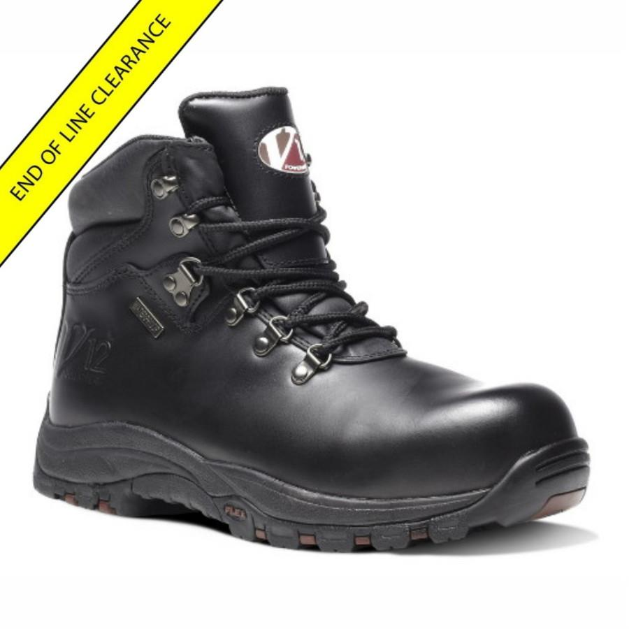 V12 V1215 Thunder Oiled Hide Waterproof Hiker Boot; Black (BK); Size 8 (42)