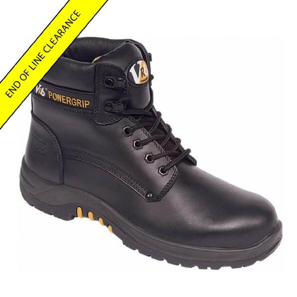 V12 VR600 Bison Waxy Derby Boot; Black (BK); Size 13 (48)