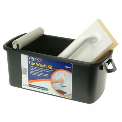 Vitrex 102905 Tile Wash Kit, 11Litre Container With Roller And Lightweight Float With Sponge