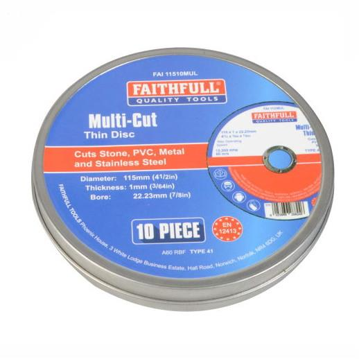 Faithfull Multi-Use Cut Off Wheels; Pack (10)