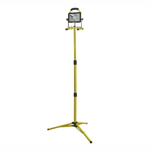Faithfull LED Site Light; Single Tripod; 1800 Lumen; 20 Watt; 240 Volt