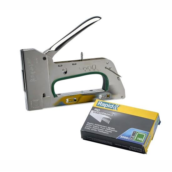 Rapid R34 Professional Heavy-Duty Hand Tacker; Staple Gun; Use 140 Series Staples