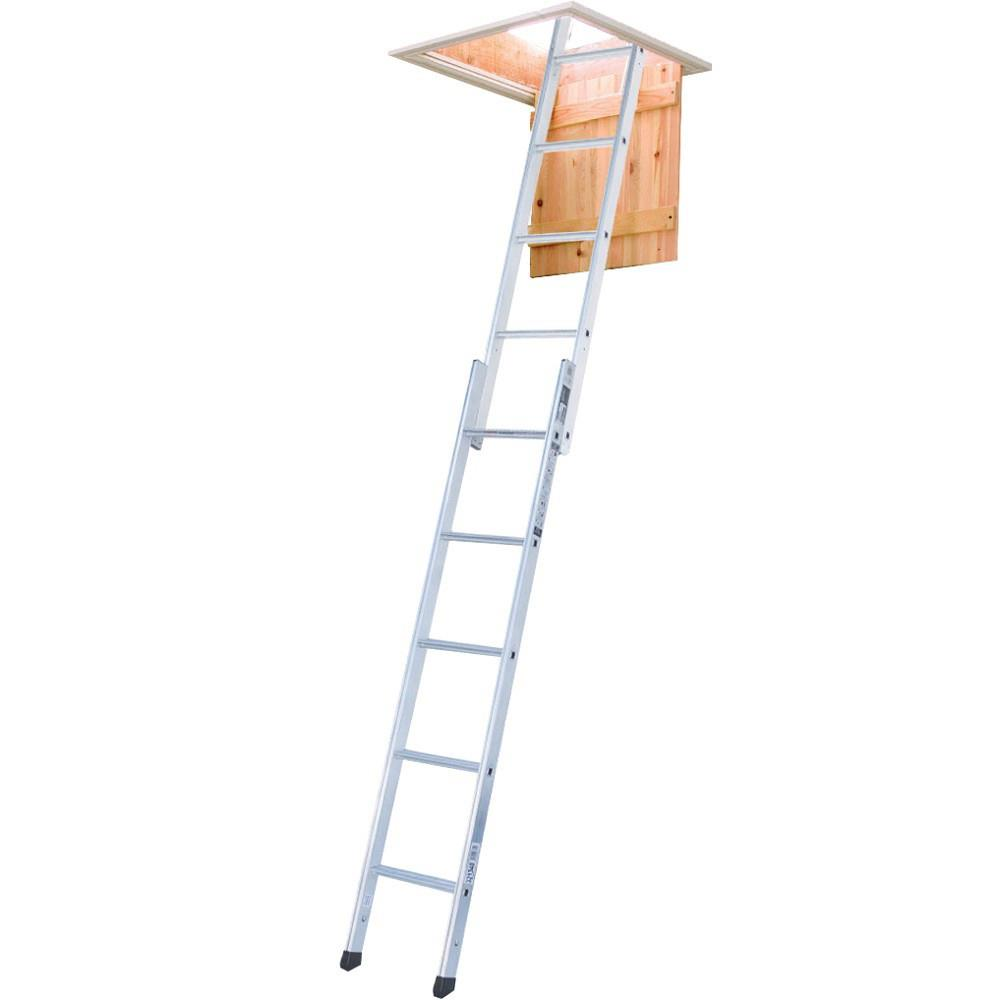 Youngman 302340 Spacemaker 2 Section Loft Ladder; Aluminium; 1.45 To 2.60 Metre