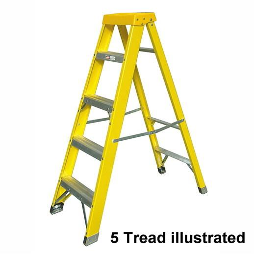 Zarges 300514 4 Tread GRP Swingback Stepladder; EN131 Professional; Open Height 1060mm